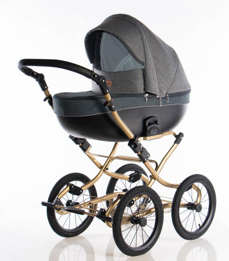 Wózek klasyczny Kajtex Avero II classic - Grey Gold 2w1