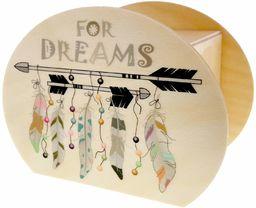 Hess drewniana zabawka 15207  skarbonka z kluczem, do snów i pióra, prezent na urodziny lub wesele, ok. 11,5 x 8,5 x 6,5 cm