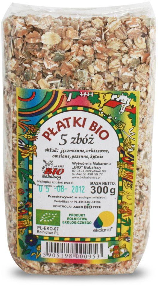 Płatki 5 zbóż BIO BIO - Babalscy - 300g