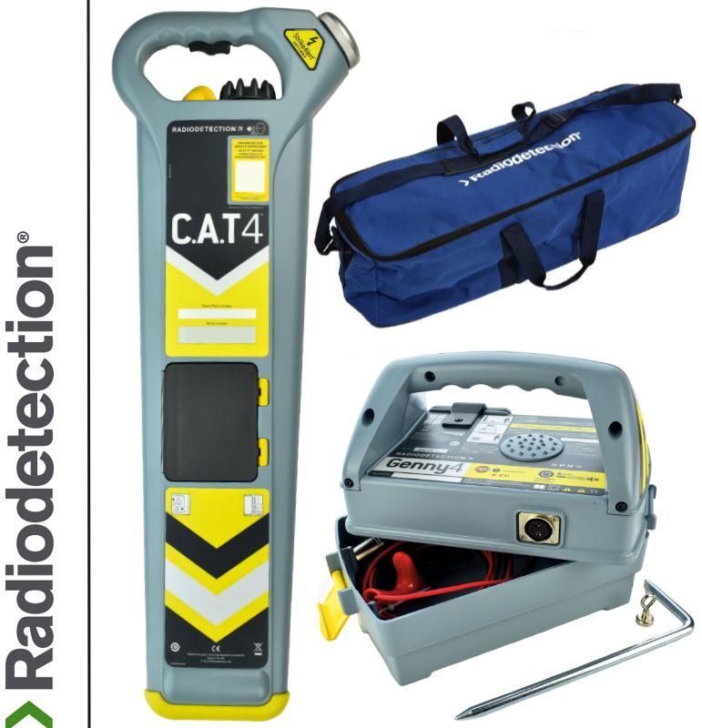 Wykrywacz instalacji podziemnych Radiodetection Cat4 Strike & Genny & Torba transportowa
