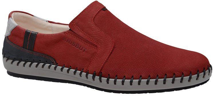 Półbuty wsuwane Mokasyny KRISBUT 5334-2-9 Czerwone Sneakersy