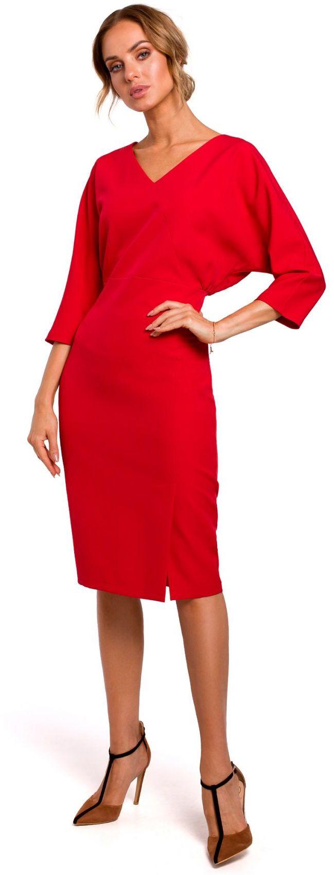 M464 Sukienka z luźną górą - czerwona