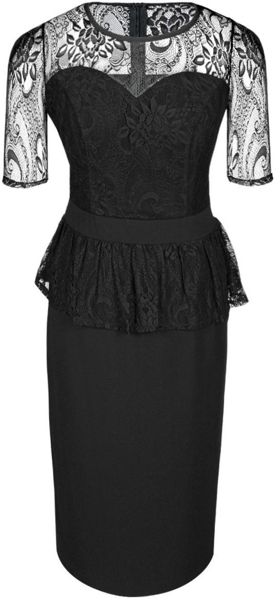 Sukienka FSU656 CZARNY