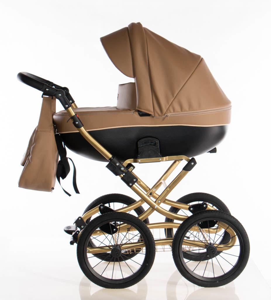 Wózek klasyczny Kajtex Avero II classic - Camel Gold 2w1
