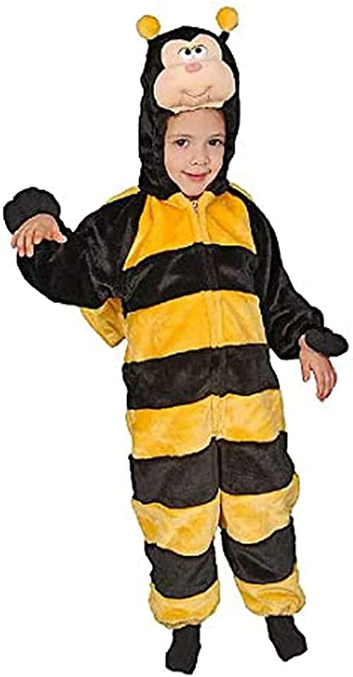 Dress up America 269-6 dzieci mała buzzy pszczoła kostium trzmiel miód os urodziny robak impreza sukienka również dostępna, czarna, wiek 4-6 lat (talia: 71-76, wysokość: 99-114 cm)