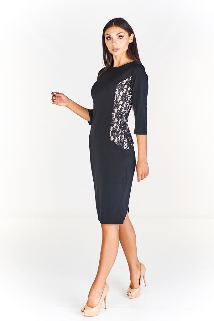 Sukienki Sukienka Suknie FSU655 CZARNY