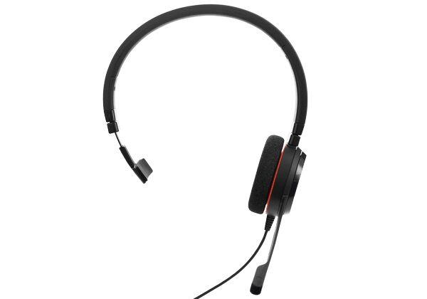 Jabra EVOLVE 20 Mono MS Przewodowy zestaw nagłowny na jedno ucho