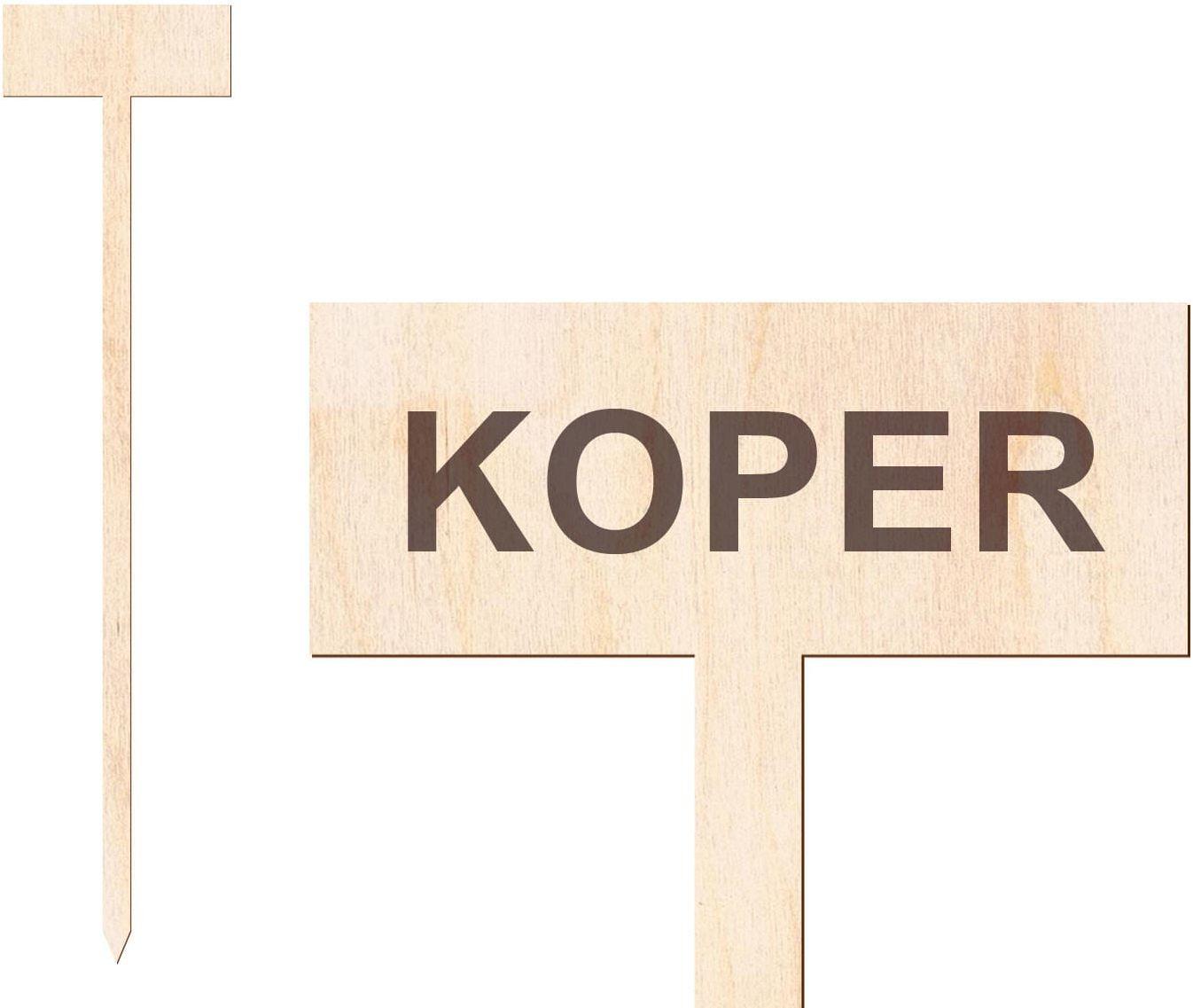 Tabliczka do oznaczania roślin Koper - 1 szt.