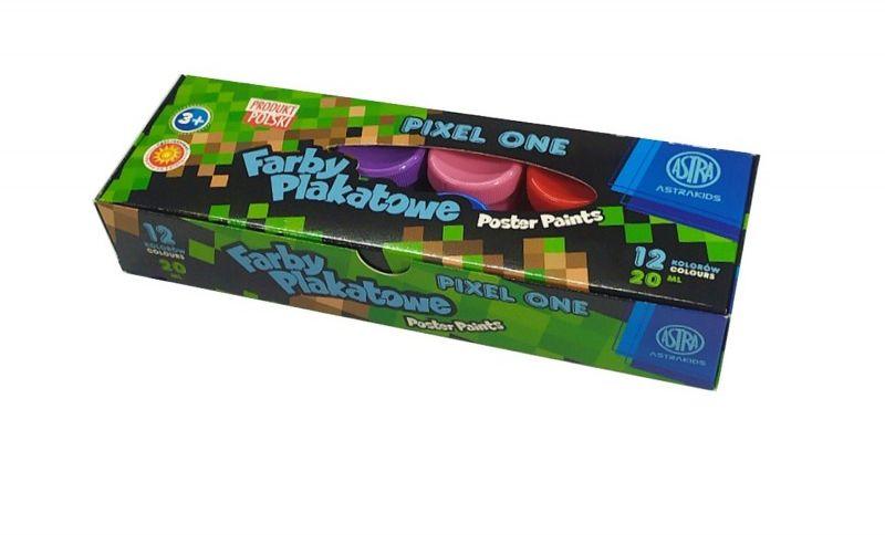 Farby plakatowe Pixel One 12 kolorów 20 ml Astra 37160290