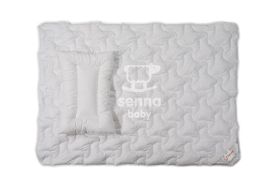Kołdra dla dzieci 90x120 poduszka 40x60 Ingeo biała jednowarstwowa z włóknem kukurydzianym biodegradowalnym Inter-Widex