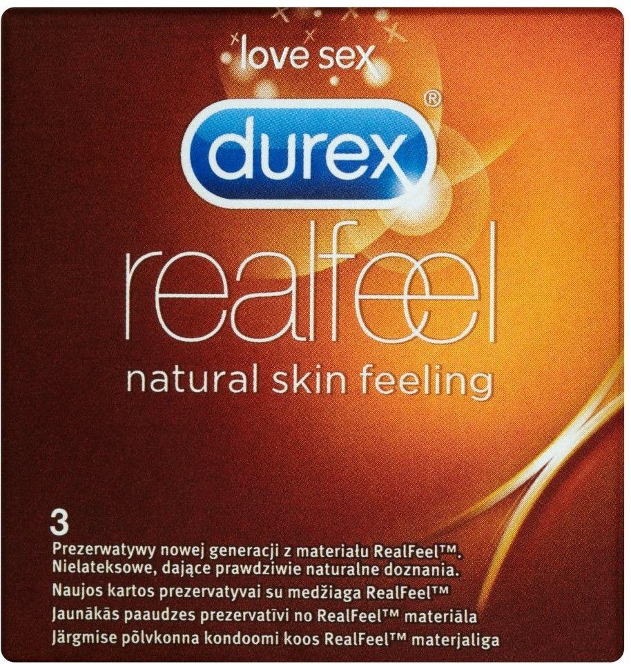 Durex prezerwatywy Real Feel - 3 sztuki