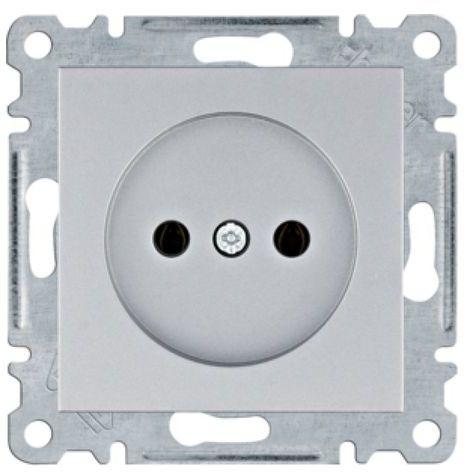 Lumina Gniazdo zasilające bez uziemienia 16A/250VAC srebrne WL1012