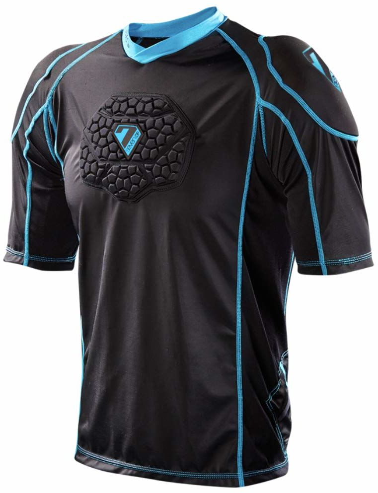 Seven Youth Flex Body T-Shirt, unisex, czarno-niebieski, S/M