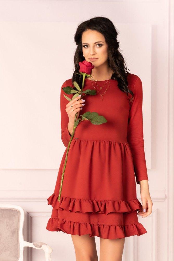 Madelana Brick Red sukienka