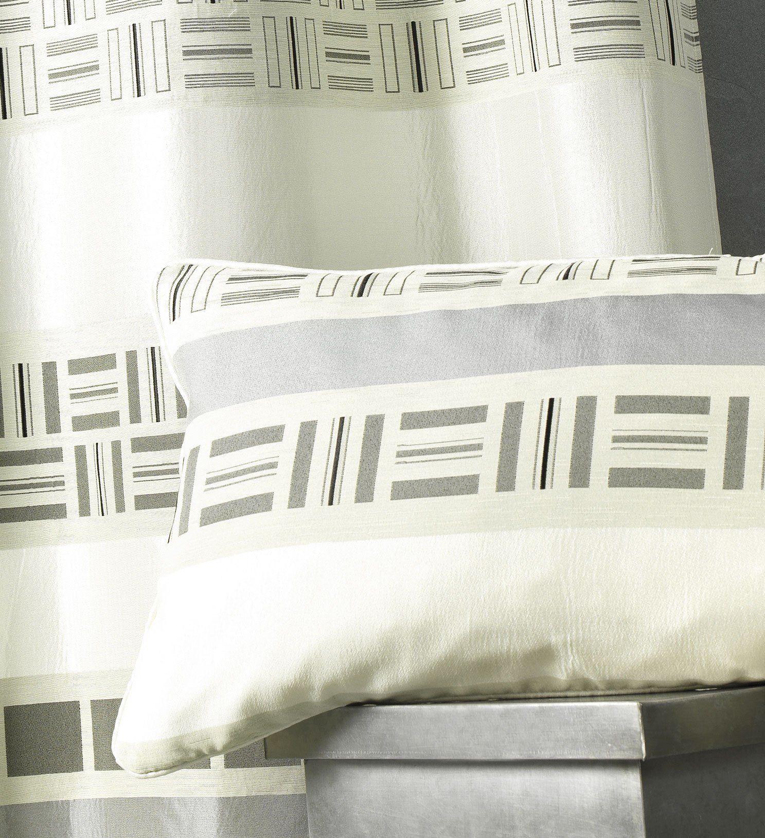 HomeMaison hm69 C349885 poduszka żakardowa, nadruk wzór poliester biały 45 x 45 cm