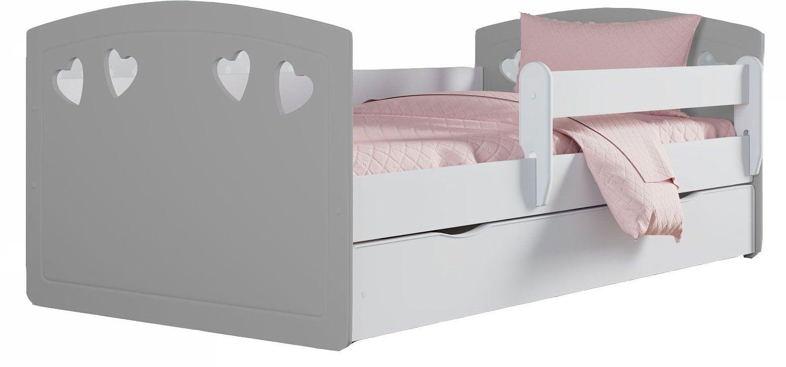 Łóżko dla dziecka z barierką Nolia 3X 80x180 - szare