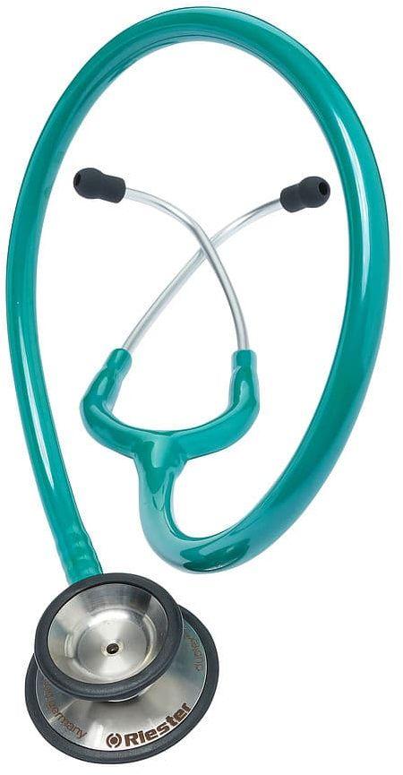 Riester Duplex 2.0 z głowicą ze stali nierdzewnej-zielony Stetoskop o dwustronnej głowicy posiadający doskonałe parametry odsłuchowe