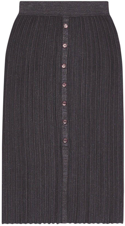 Plisowana spódnica z guzikami