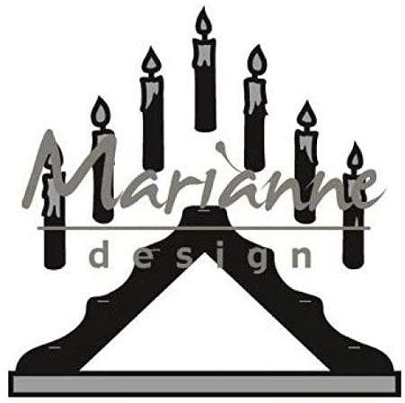 Marianne Design do majsterkowania świeca mostek matryca, metal, szary, 14,1 x 11,4 x 0,2 cm
