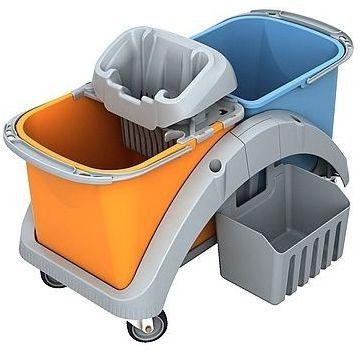 Wózek do sprzątania dwuwiadrowy Splast TS2-0016 z koszykiem