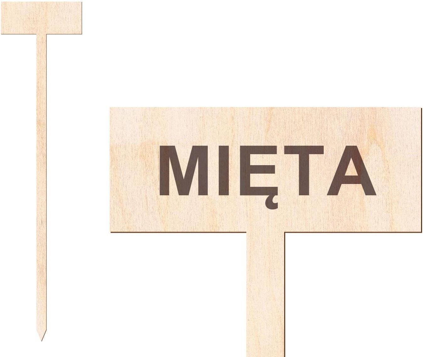 Tabliczka do oznaczania roślin Mięta - 1 szt.