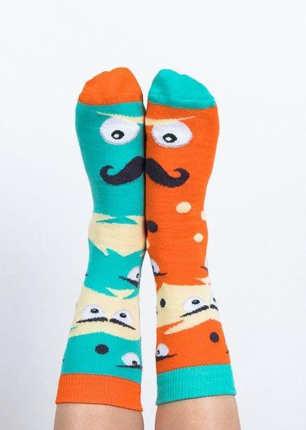 Skarpety kolorowe dla dzieci Nanushki Mustachio