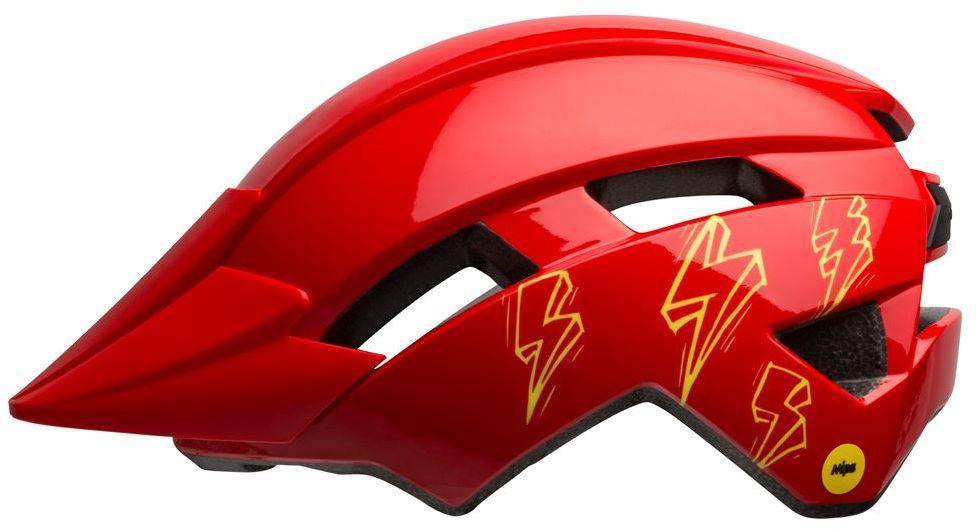 BELL kask rowerowy dziecięcy sidetrack II bolts gloss red BEL-7116458 Rozmiar: 47-54,BEL-7116458