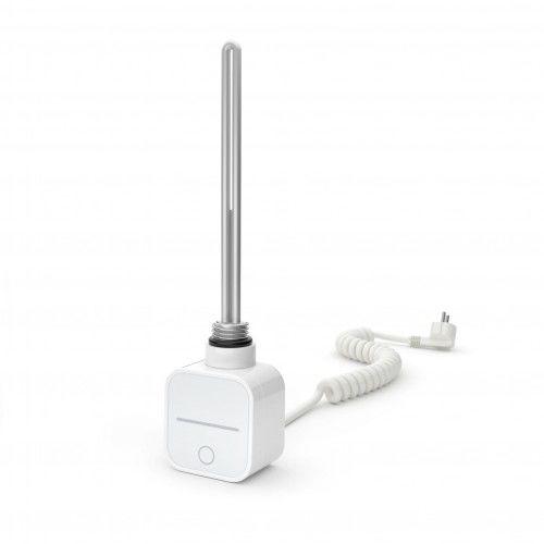 Grzałka do grzejnika łazienkowego Warmtec NEX kolor biały, programator moc 300W