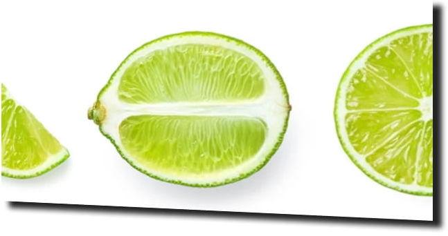 obraz na szkle, Panel szklany Limonka