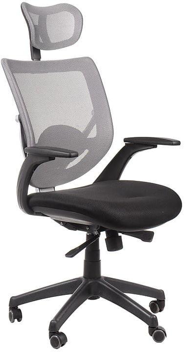 Fotel biurowy gabinetowy KB-8904/SZARY - krzesło obrotowe