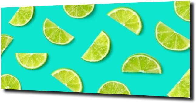 obraz na szkle Limonka, tło, animacja