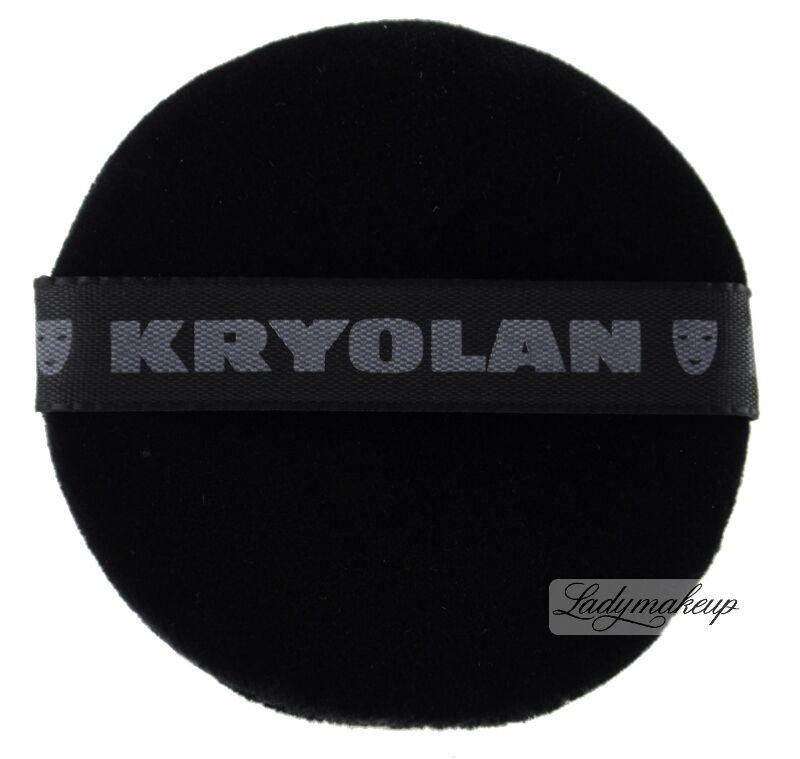 Kryolan - CZARNY puszek do pudru 8 cm - 1718/01