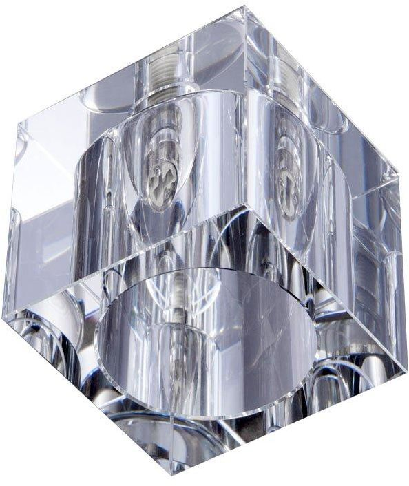 Plafon Cubo Claro Orlicki Design sześcienna oprawa w nowoczesnym stylu