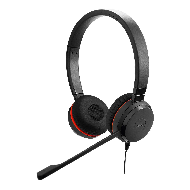 Jabra EVOLVE 20 Duo UC Przewodowy zestaw nagłowny na dwoje uszu do Skype for Business