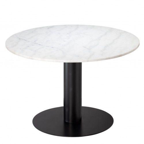 Stół jadalniany Pepo marmur czarna stalowa noga