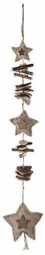 Beżowy filcowy naszyjnik z gwiazdą ozdobiony 75 cm