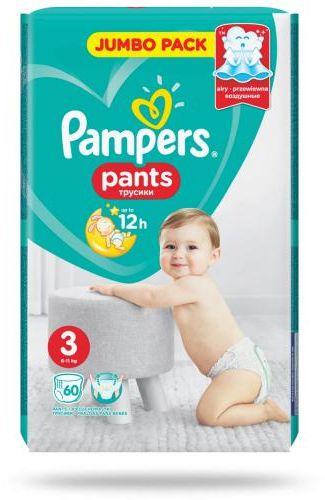 Pampers Pants 3 pieluchomajtki 6-11 kg 60 sztuk