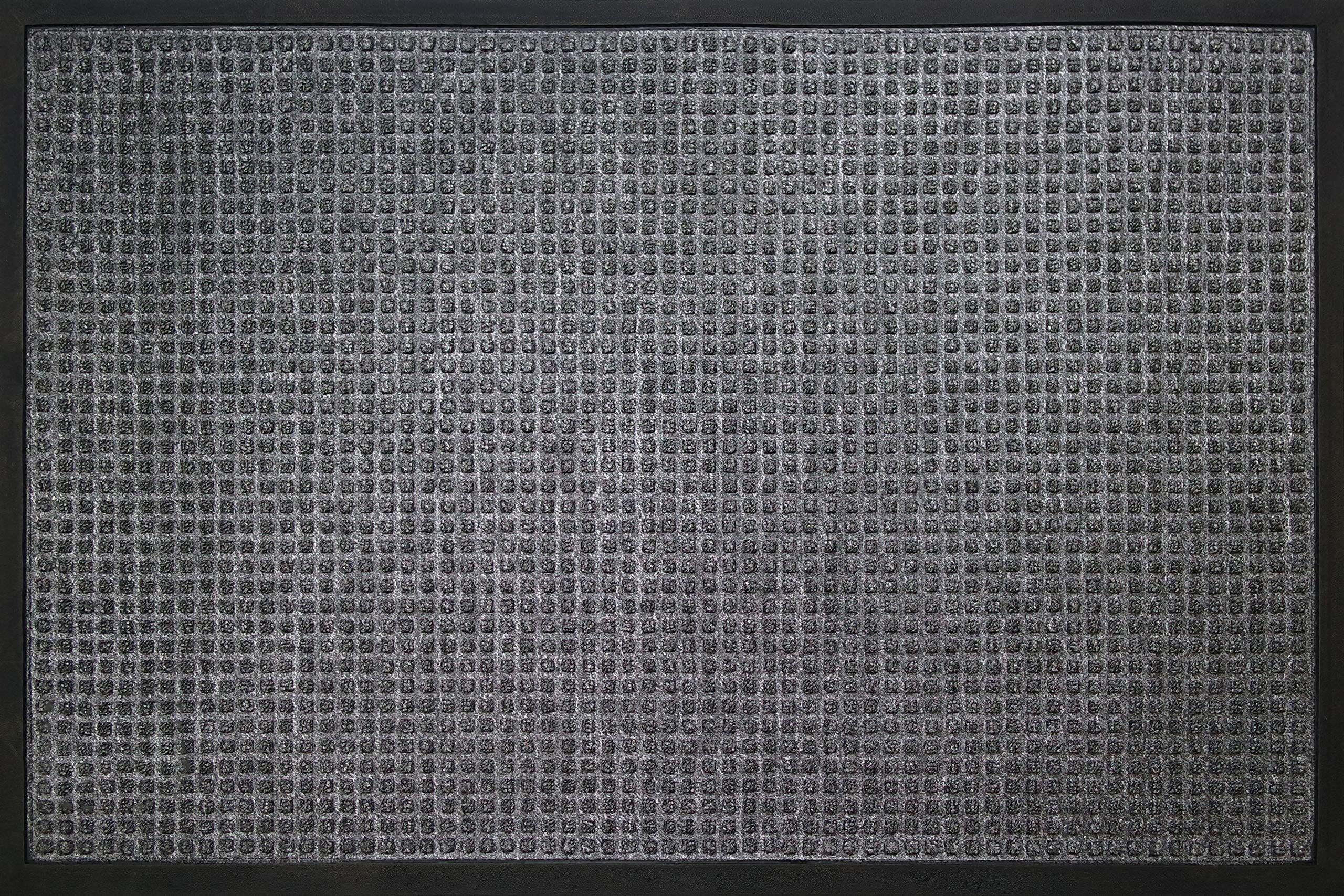 ID Matt 80120 02 AusAusCarre dywan wycieraczka włókno polipropylenowe/guma szary 120 x 80 x 1 cm