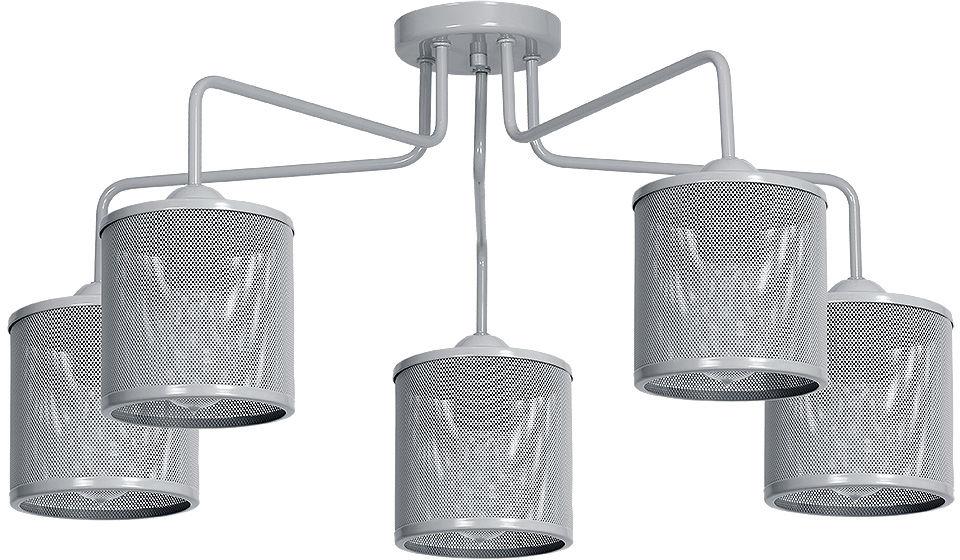 Milagro LOUISE GREY MLP646 plafon lampa sufitowa klosz metalowa siatka szary 5xE27 84cm