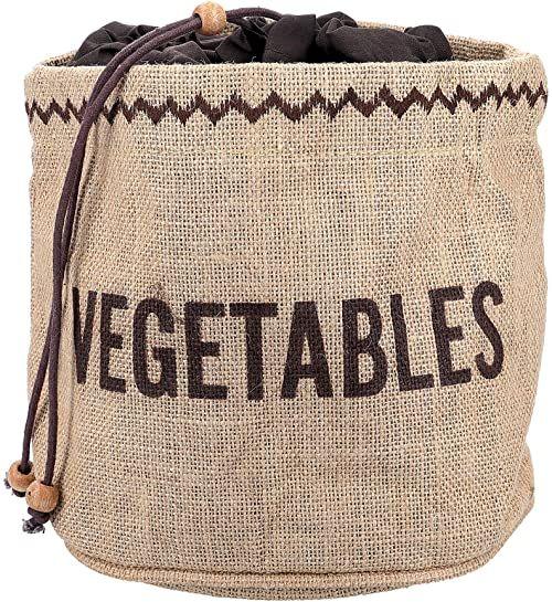 KitchenCraft naturalne elementy worek Hesji do przechowywania warzyw, brązowy, 21 x 21 x 20 cm
