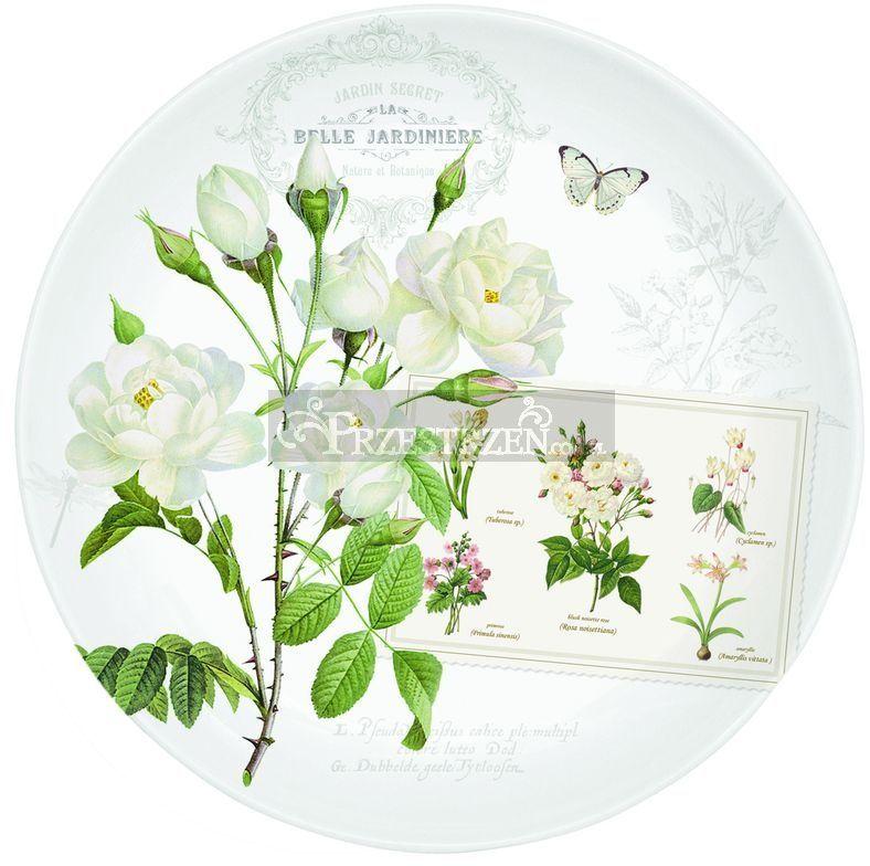 PORCELANOWY TALERZ DESEROWY - Natural - Kwiaty (324 NATU)