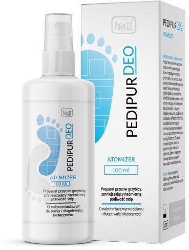 Pedipur Deo preparat przeciw grzybicy, zmniejszający nadmierną potliwość stóp, atomizer 100 ml