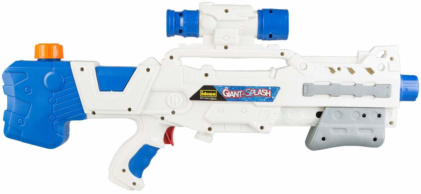"""Idena 40425  Idena plaster wody """"Giant-Splash"""", pistolet na wodę dla dzieci, z pompką, ok. 51 cm, biały, idealny na urlop, na plażę lub na basen"""