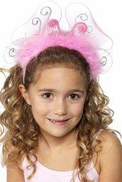 Smiffys Opaska na włosy dla dzieci i dziewczynek, ze skrzydłami motyla i lametą, rozmiar uniwersalny, różowa, 31534