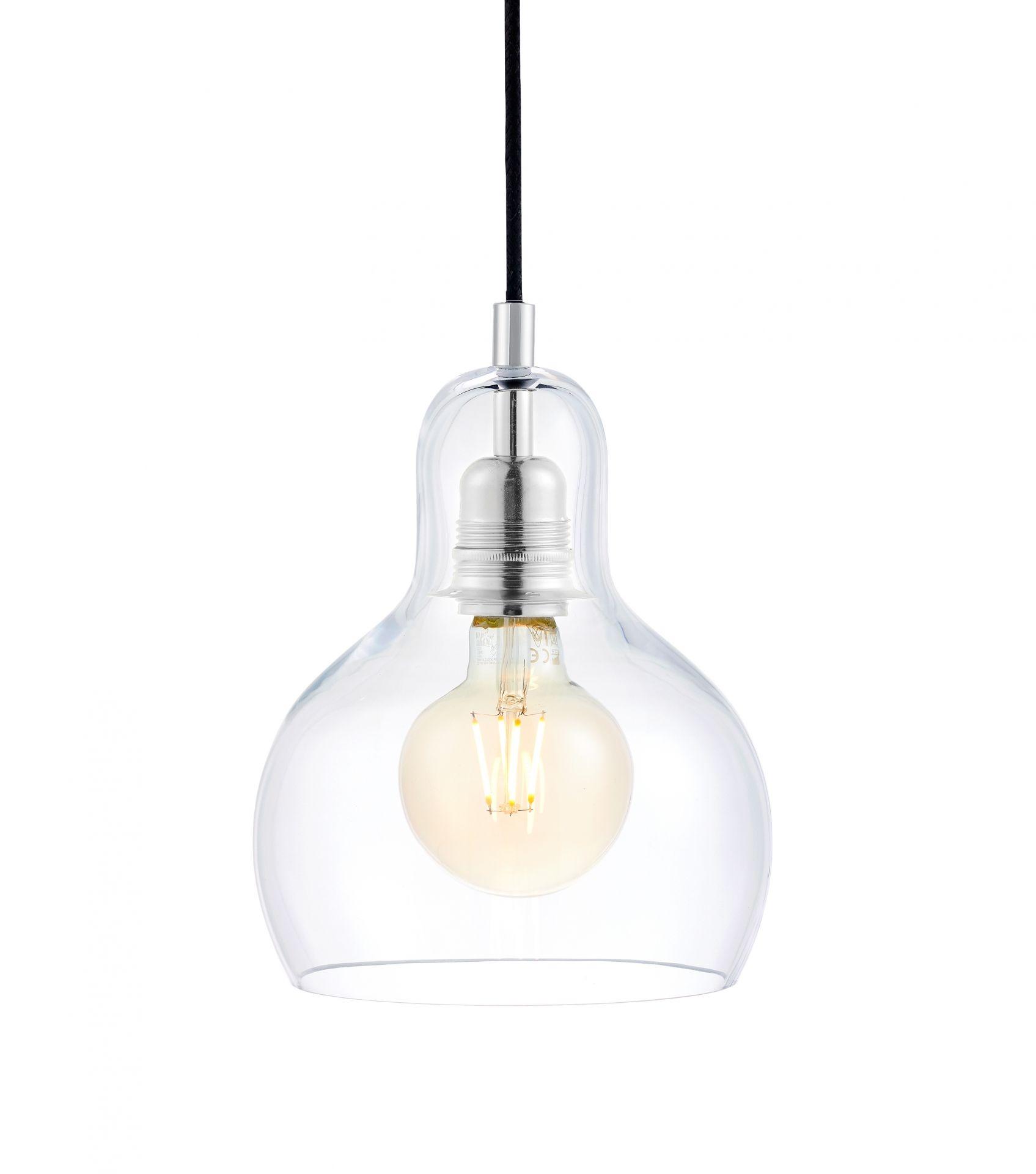 Lampa wisząca Longis I 10121109 oprawa przezroczysta / przewód czarny Kaspa