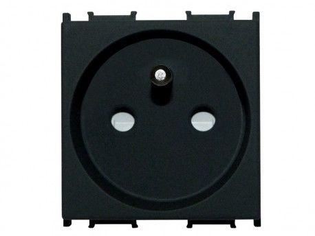 Gniazdo modułowe do puszki podłogowej 2P+Z 16A Modul 2M czarne bez ramki TEM do PD12 0492