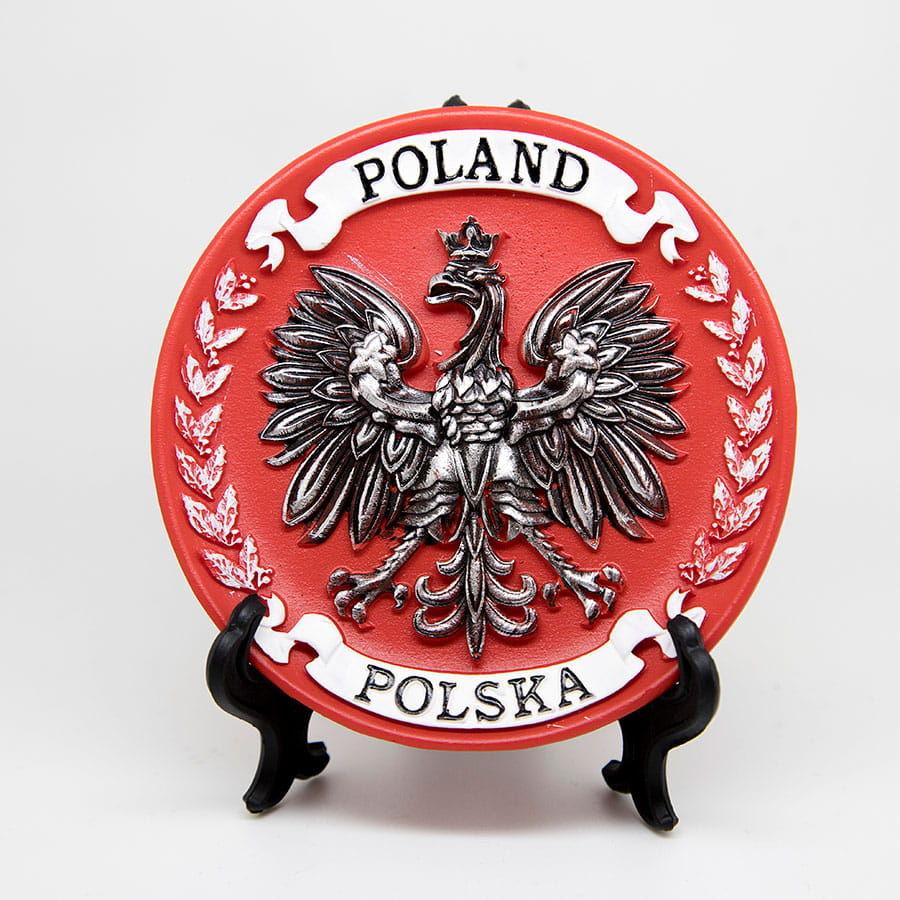 Talerzyk dekoracyjny pamiątkowy Polska duży