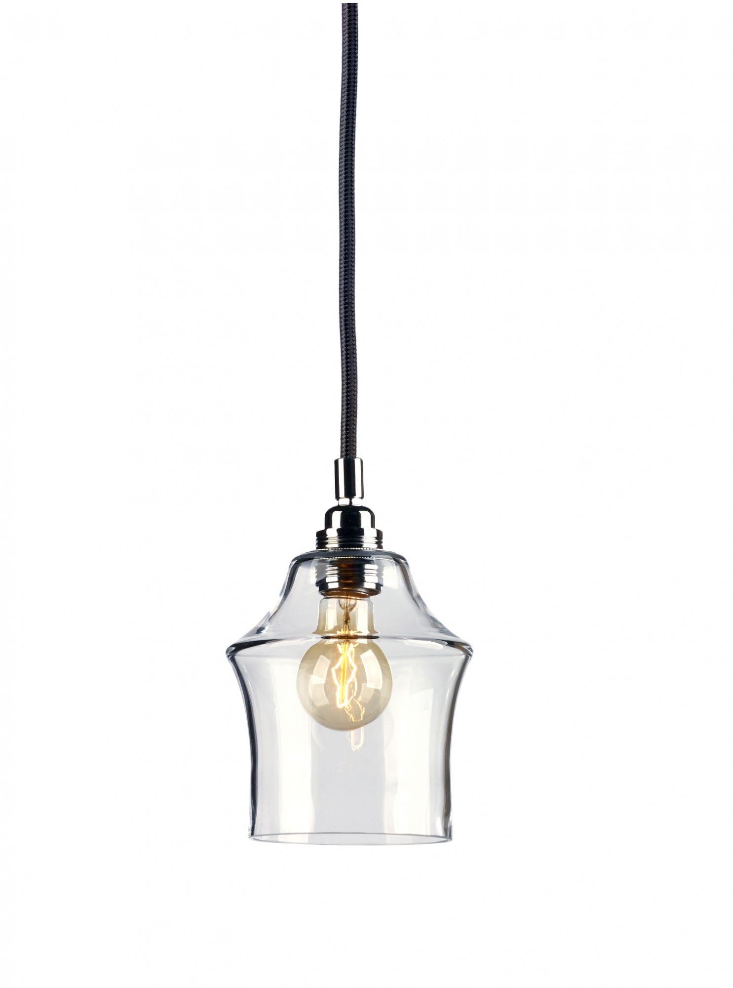 Lampa wisząca Longis II 10134109 oprawa przezroczysta / przewód czarny Kaspa