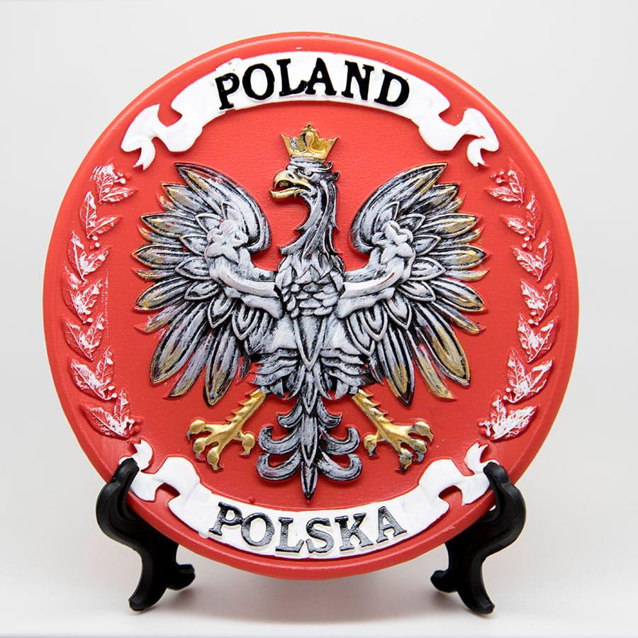 Talerzyk dekoracyjny, pamiątkowy Polska mały