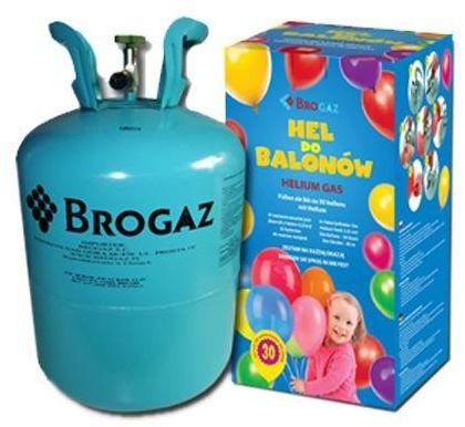 Zestaw do samodzielnego napełniania 30 balonów helem - butla